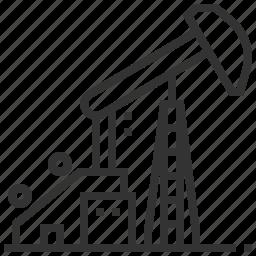 energy, fuel, gasoline, jack, oil, pump, station icon