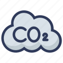 carbon, co2, dioxide, pollution icon