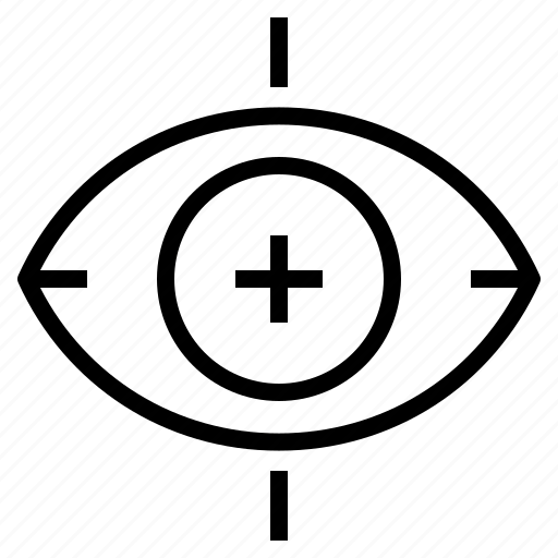 business, eye, focus, scanner, vision icon