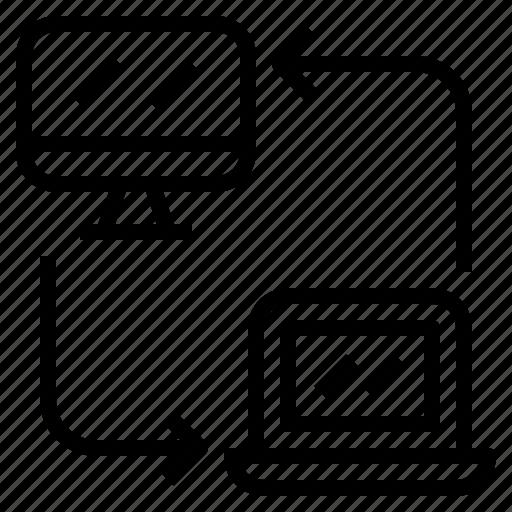 analytics, computer, data, m2p, machine, person, to icon