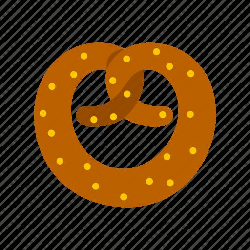 bread, eat, food, pretzel, salt, salty, snack icon