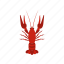 cancer, crayfish, food, gourmet, lobster, restaurant, seafood icon