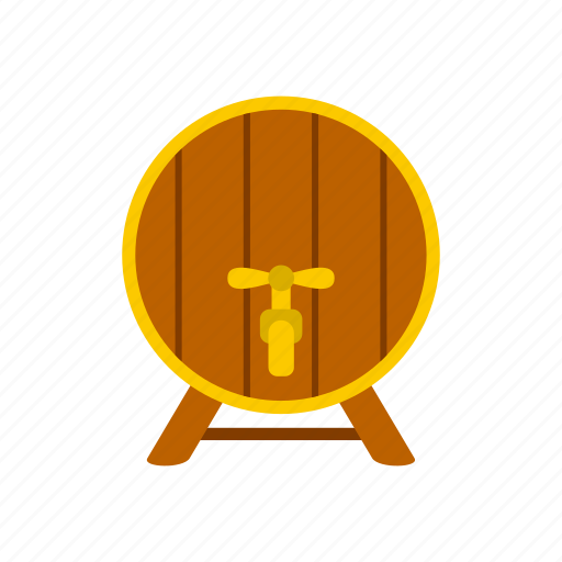 alcohol, barrel, container, drink, old, tap, wood icon