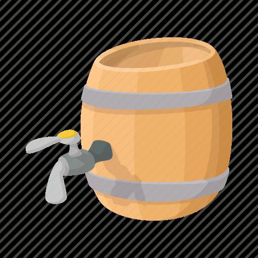 alcohol, barrel, beer, cartoon, container, drink, storage icon