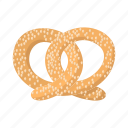 cartoon, food, german, oktoberfest, pretzel, salt, salty icon