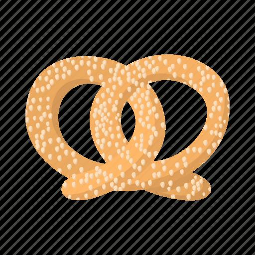 cartoon, food, german, oktoberfest, pretzel, salt, salty icon