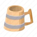 alcohol, beer, beverage, cartoon, mug, pub, wooden icon