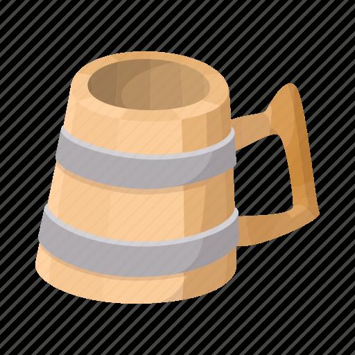 alcohol, beer, beverage, cartoon, mug, pub, wooden icon
