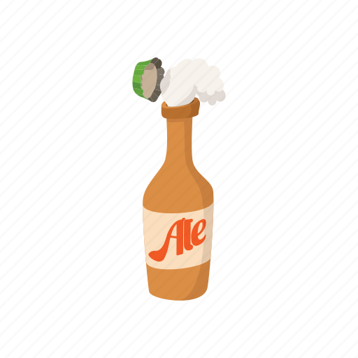 alcohol, beer, cap, cartoon, lager, light, open icon
