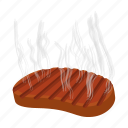 beef, cartoon, food, grilled, meal, meat, steak icon