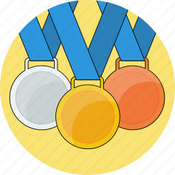 achivement, bronze, gold, icons, medals, olympics2016, silver, top3 icon