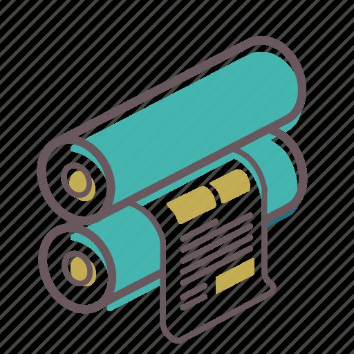 flexo, newspaper, offset, paper, press, print, printer icon