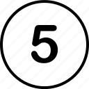 five, menu, nav, navigation icon
