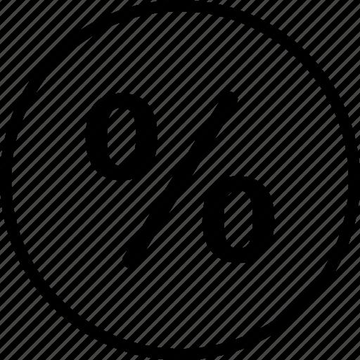 interest, menu, nav, navigation, percent icon