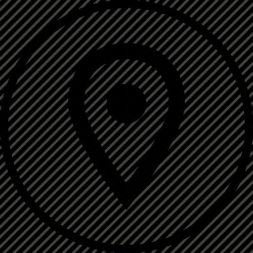 gps, location, menu, nav, navigation, pin icon