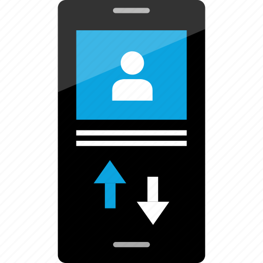 cell, conversation, download, phone, sms, upload icon