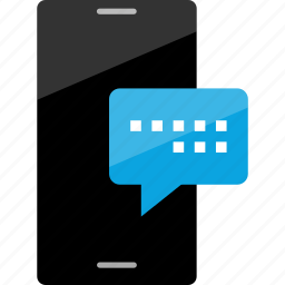 cell, conversation, message, phone, popup, sms, text icon