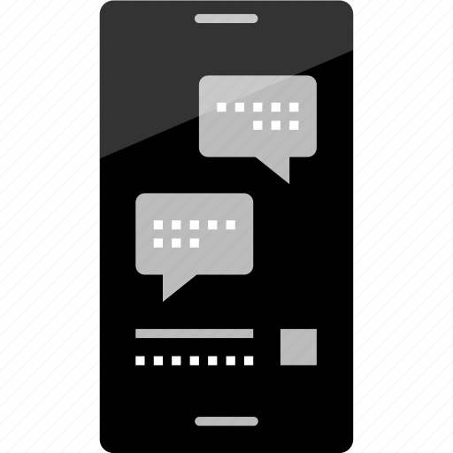 bubble, chat, ichat, mockup, online, phone, wireframe icon