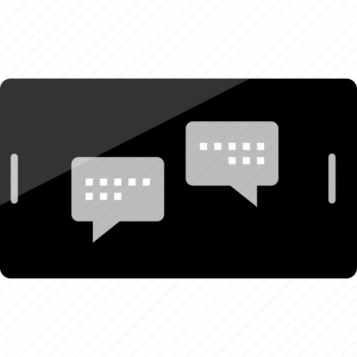 bubble, chat, landscape, mockup, online, phone, wireframe icon
