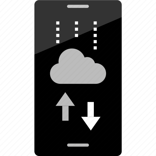 arrows, cloud, mockup, online, phone, up, wireframe icon