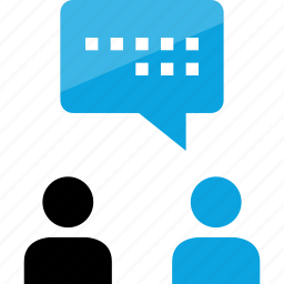 conversation, friend, friends, message, sms, text, users icon