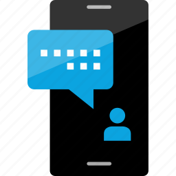 cell, conversation, message, phone, pop, sms, text icon