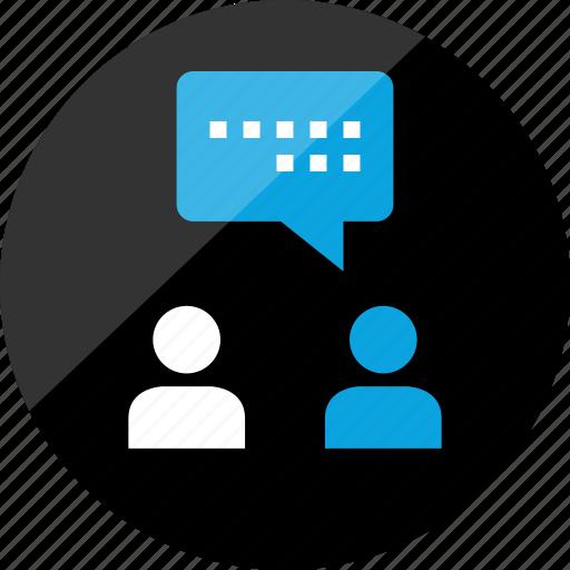 chat, conversation, friend, friends, sms, talk, talking icon