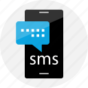 bubble, cell, chat, conversation, phone, sms, talking icon