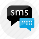 bubbles, chat, conversation, facebook, messege, sms, talking icon