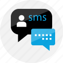 bubble, chat, conversation, online, sms, talk, talking icon
