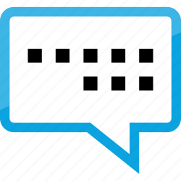 bubble, chat, conversation, message, online, sms, text icon