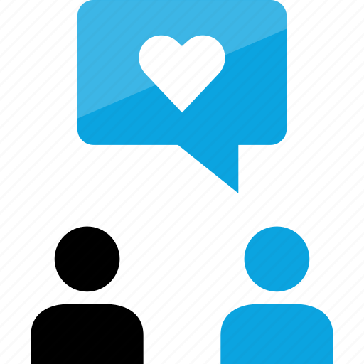conversation, friends, heart, love, message, sms, text icon