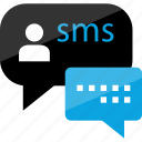 bubble, conversation, media, message, sms, talk, text icon