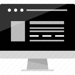 blog, browse, browser, computer, mockup, website, wireframe icon