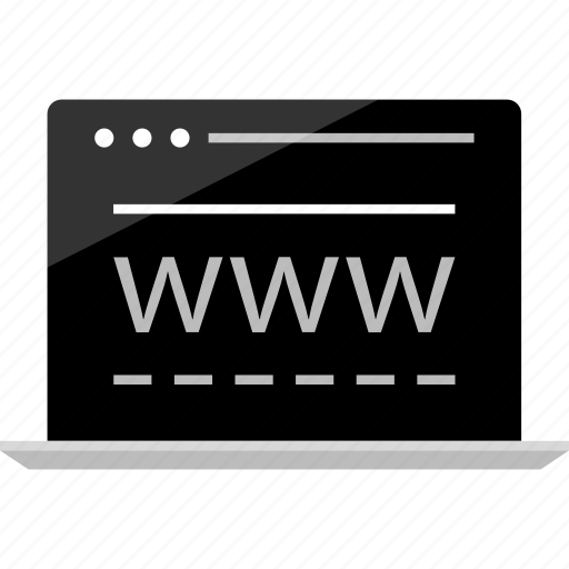 computer, laptop, mockup, online, us, visit, wireframe icon