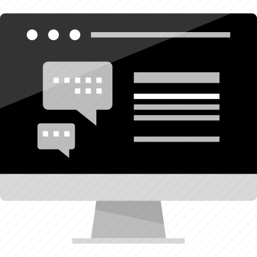bubble, chat, computer, instant, mockup, online, wireframe icon