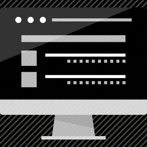 code, computer, development, mockup, online, web, wireframe icon