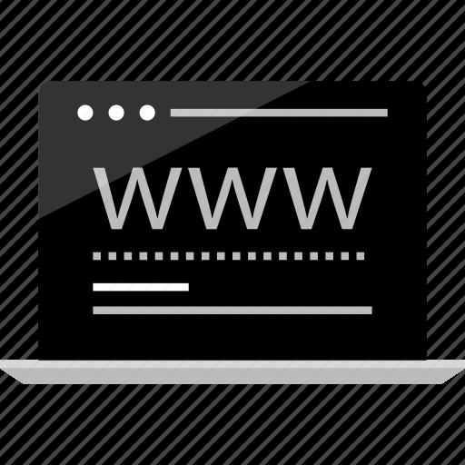 computer, laptop, mockup, visit, website, wireframe, www icon