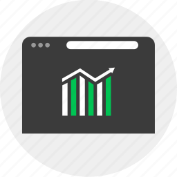 business, chart, online, up icon