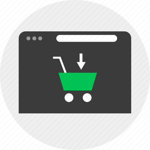 Add, business, cart, online icon