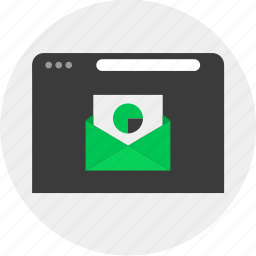 business, chart, email, online icon
