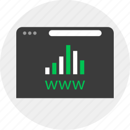 business, chart, online, www icon