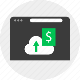 business, cloud, money, online icon