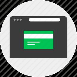 business, card, credit, debit, money, online icon