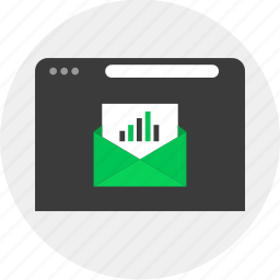 business, email, mail, online, results icon