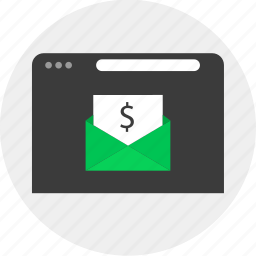 business, email, money, online icon