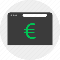 business, currency, euro, online icon