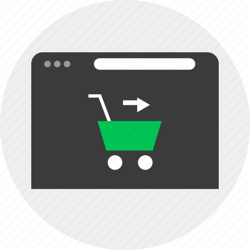 business, cart, go, online icon