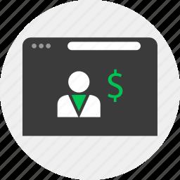 business, internet, money, online icon