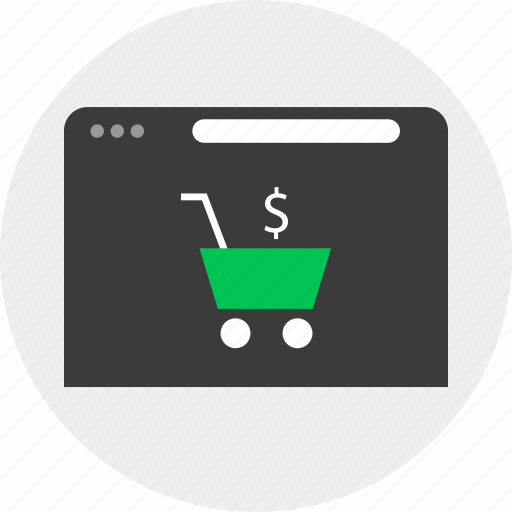 business, cart, check, money, online, out icon